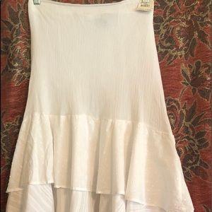 White Sara Studio Boho Studio Skirt (NWT)